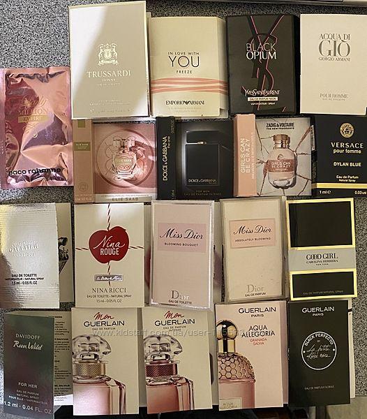Пробники миниатюры Givenchy YSL Armani Dior D&G Versace