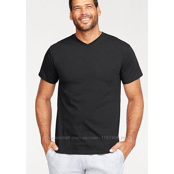 Мужская футболка с V образным вырезом. Выбор цвета. Размеры от S до XXL