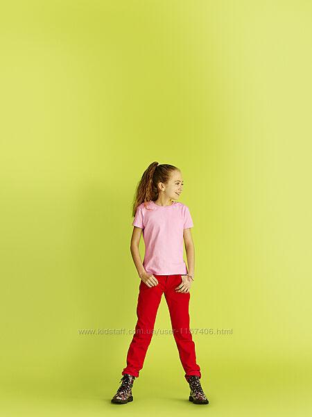 Футболки для девочек, приталенные. Выбор цвета. Однотонные.