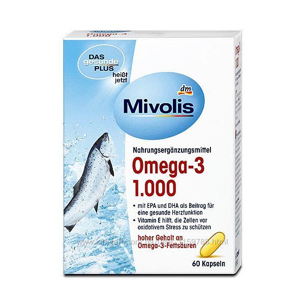 Капсулы Mivolis Omega-3 рыбий жир 60 шт
