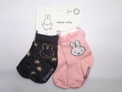 Набор носочков 2 пары носки для девочки 3-6 мес бренд C&A