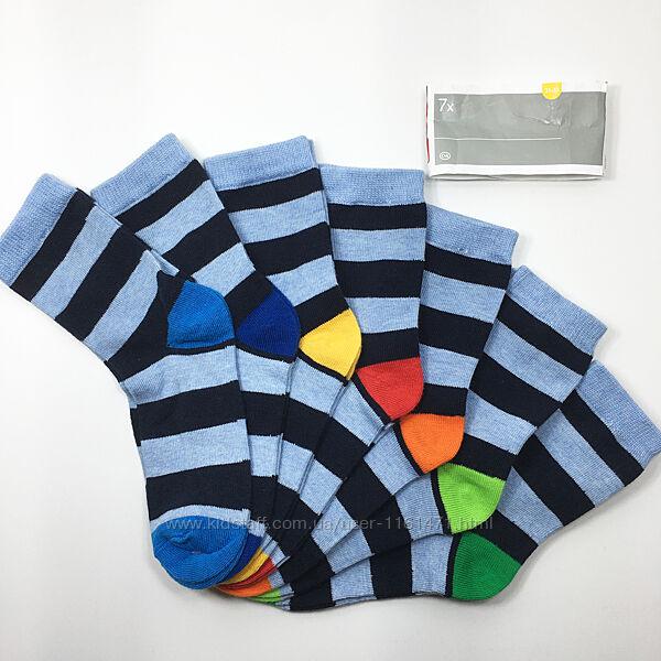 Набор 7 пар носки детские комплект Неделька на мальчика р. 31/33 бренд C&A