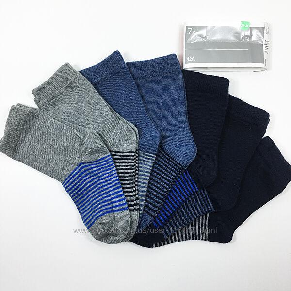 Набор 7 пар носки детские комплект Неделька на мальчика р.24/30 бренд C&A