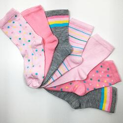 Набор 7 пар носки детские комплект Неделька на девочку р.24/26 бренд C&A