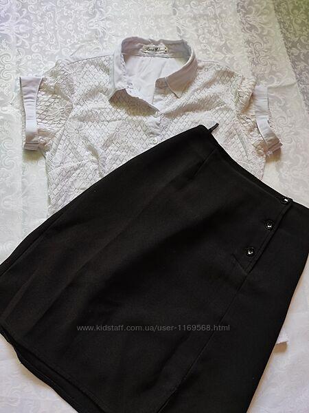 Школьный комплект блузка и юбка для девочки-подростка