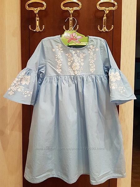 Красивенное платье туника небесно-голубого цвета LC Waikiki 134-140 8 9 10