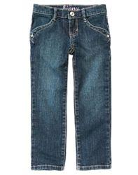 Новые джинсы Gymboree синие на девочку 9 лет фигурные кармашки Джимбори