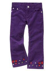 Новые фиолетовые вельветовые брюки Gymboree украшенные пуговками бантиками
