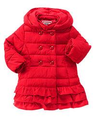 Новая красная курточка пальто Gymboree на девочку 12-24 месяца Оливия Пеппа
