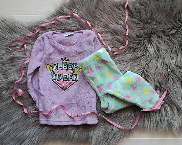 Пижама теплая девочке плюшевый флис Primark. Бесплатная доставка Укрпочтой.
