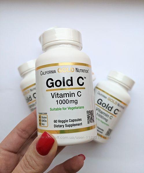 California Gold Nutrition Gold C, витамин C 1000 мг, 60