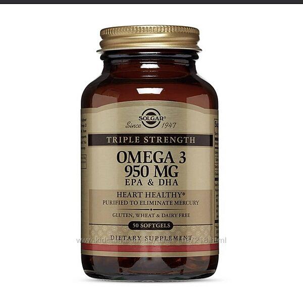 Омега 3 Солгар 950 мг Solgar Omega 3 950mg