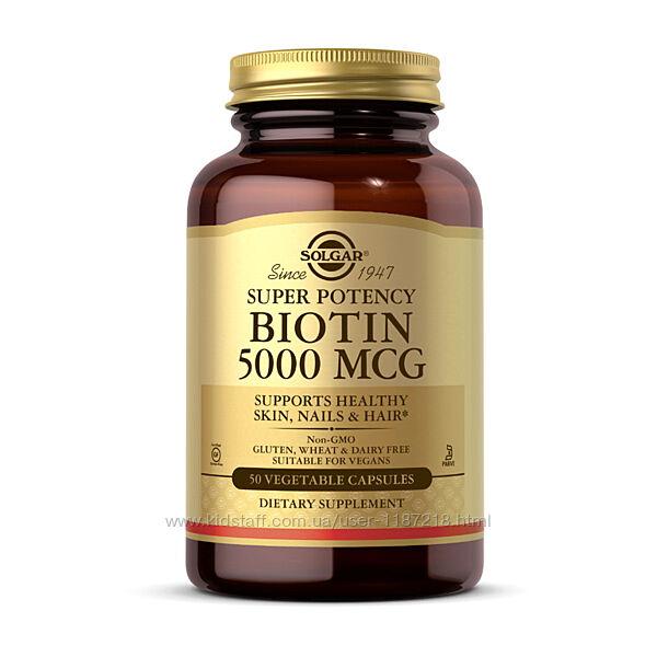 Biotin 5000 mcg от Solgar Солгар Биотин