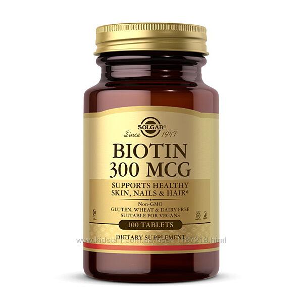 Биотин Солгар Biotin 300 mcg от Solgar Біотін