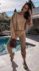 Женский костюм с укороченной кофтой 42,44,46,48