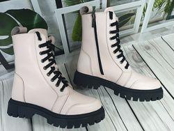 Стильные ботинки натуральная кожа и замша зимние и демисезонные