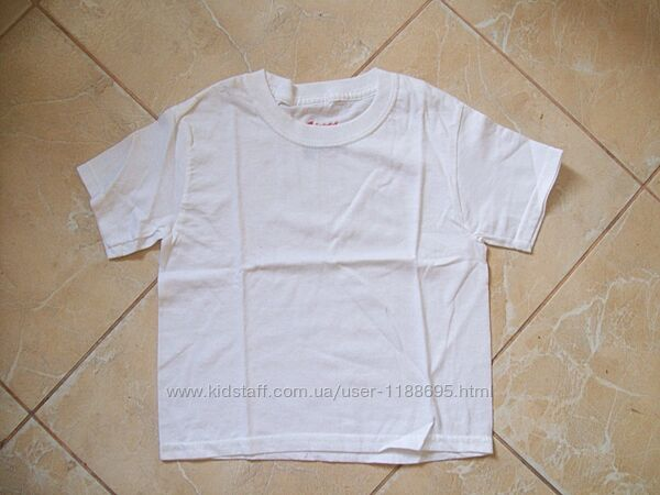 Белая футболочка Hanes Comfort Fit. р.3-5лет