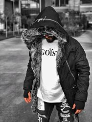 Парка мужская куртка зимняя  Open Original черная