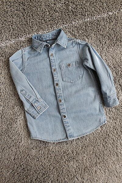 Джинсовые рубашки H&M 12-18 мес и  REBEL 2-3 года