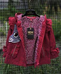 Нарядный плащик/дождевик/ветровка с капюшоном для девочки. Турция