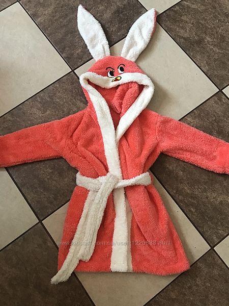 Банний  халат у вигляді зайчика