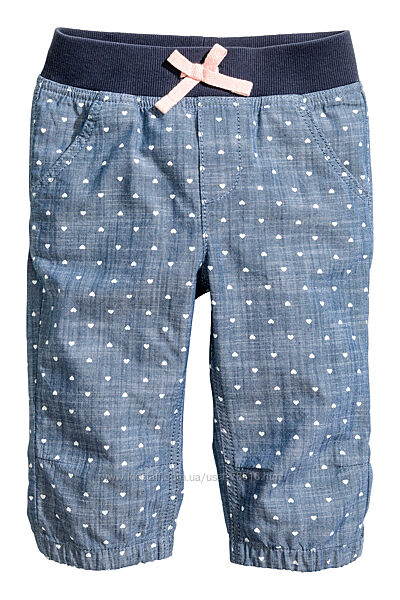 Летние джинсовые бриджи НМ
