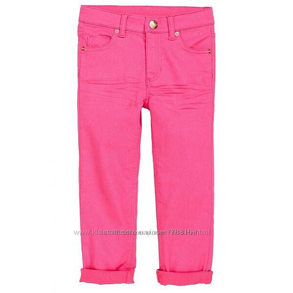 Розовые стрейчевые штаны от НМ 128р