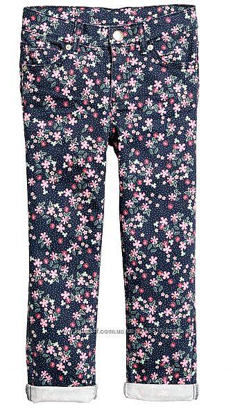 Стрейч штаны в цветочный принт НМ 140р