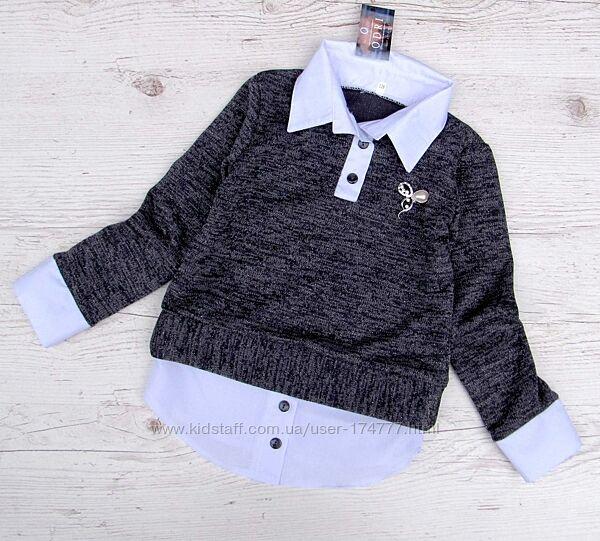 Р.122 распродажа детская школьная блузка