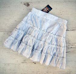Распродажа р. 34,36,40 98,104,110 детская юбка хлопок белая на лето