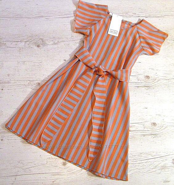 Р. 128-152. распродажа детское летнее платье в полоску
