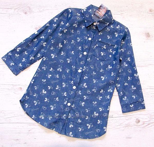 Р.104-122 детская рубашка Дисней