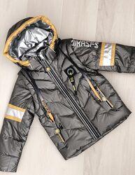 Демисезонная куртка-жилетка мальчику, рост 98-122см
