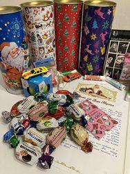 Новогодние подарочные Наборы конфет Именное письмо и Игрушка