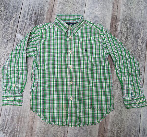 Рубашки с длинными рукавами на мальчика 4-5 лет