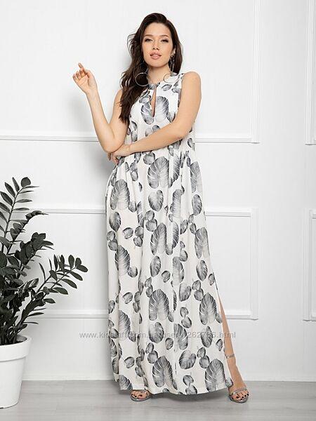 Длинное платье без рукавов. Размер S по 3XL.
