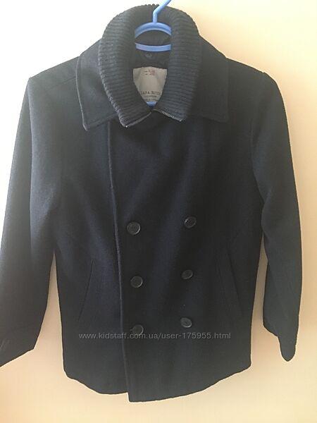 пальто шерстяное Zara р.140