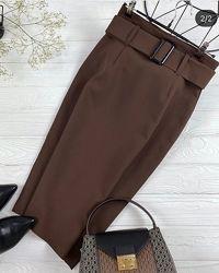 Классическая юбка футляр в двух цветах, Артикул 4139