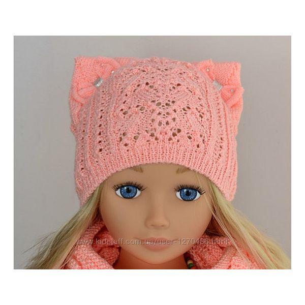 Весенняя шапка тонкой вязки Arctic на принцессу 3-8 лет