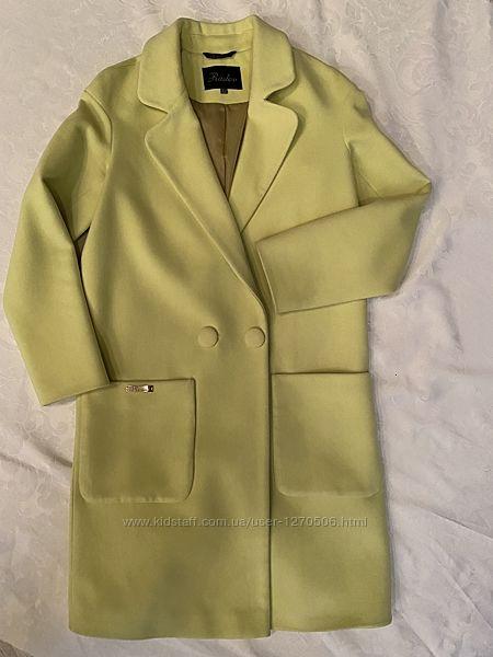 Пальто женское Raslov, пальто лимонного цвета, пальто оверсайз