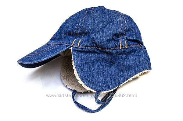 Зимняя джинсовая кепка H&M. Возраст 9-12 мес.