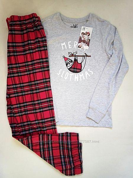 Комплект для дома и отдыха пижама с фланелевыми штанами next р.146