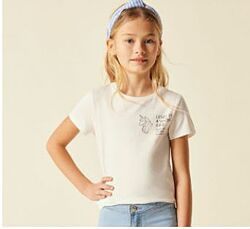 Белая футболка для девочки