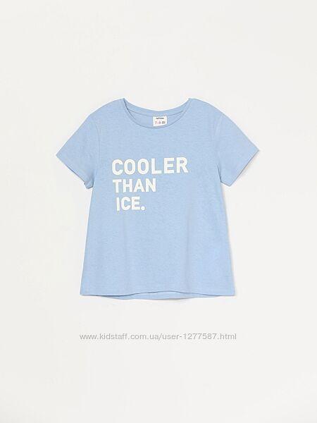 Голубая футболка для девочки