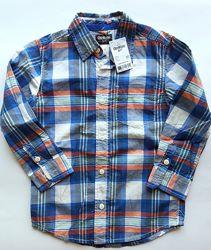 Дитяча рубашка хлопчику 5р. ріст 105-110 см Ошкош / Рубашка мальчику