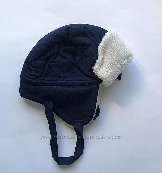 Тепла зимова шапка для малюка GAP 0-6 місяців / детская теплая шапка