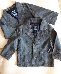 Дитячий піджак льон 18-24міс. , 2-4р. ріст 79-107 см Old Navy / пиджак