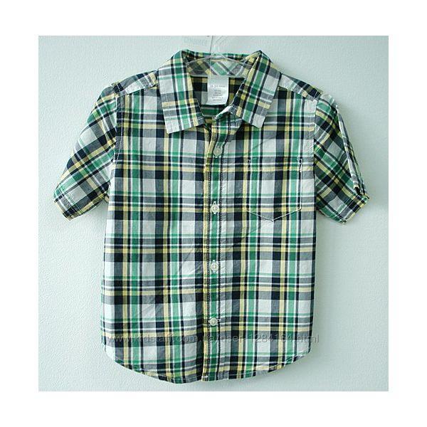 Дитяча рубашка хлопчику 18-24міс. , 78-84см/ детская рубашка короткий рукав