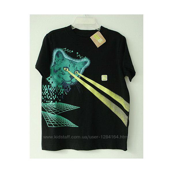 Дитяча футболка Лазер-кіт 110см, 4р. Crazy8/детская футболка мальчику