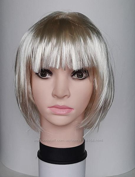 Каре перука блонд коричнева червона/парик синий зеленый оранжевый голубой